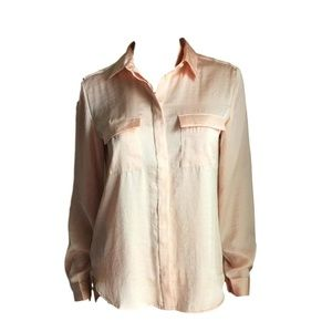 Loft Double Pocket Blouse - Peach